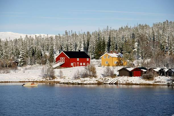 Norwegian farm stock photo