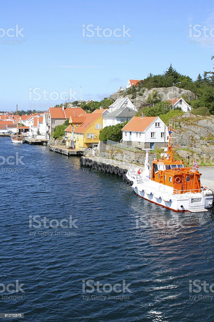 Norwegian Fishing Town royalty-free stock photo