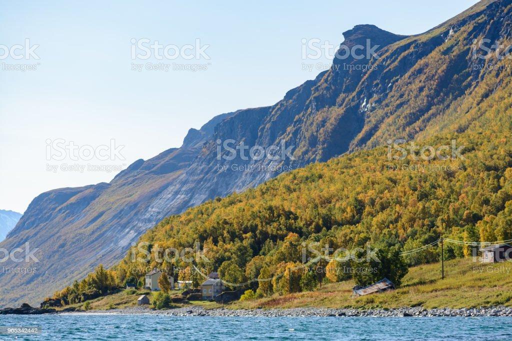 Norwegian fjord landscape zbiór zdjęć royalty-free
