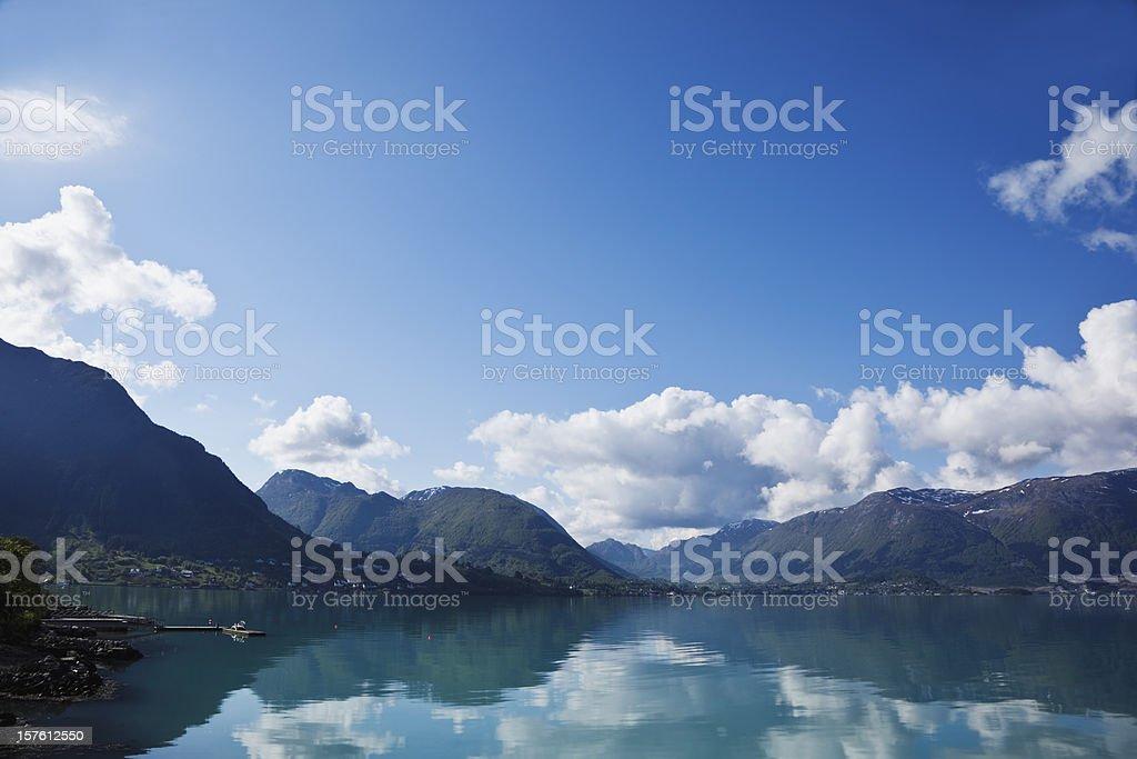 Norwegian fjord. royalty-free stock photo