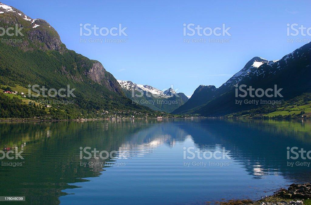 Norwegian Fjord royalty-free stock photo