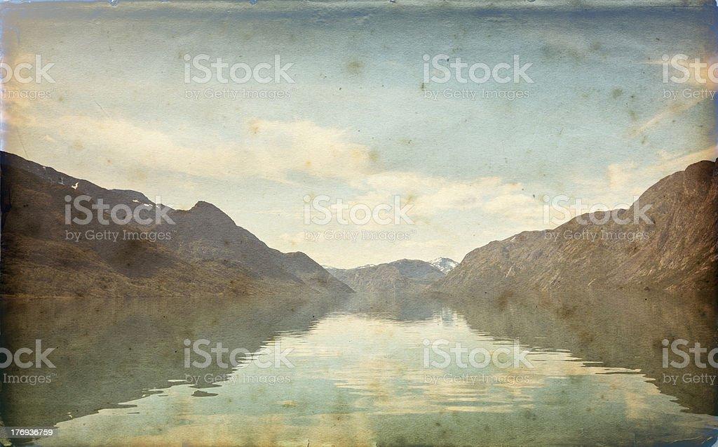 Norwegian fjord . royalty-free stock photo