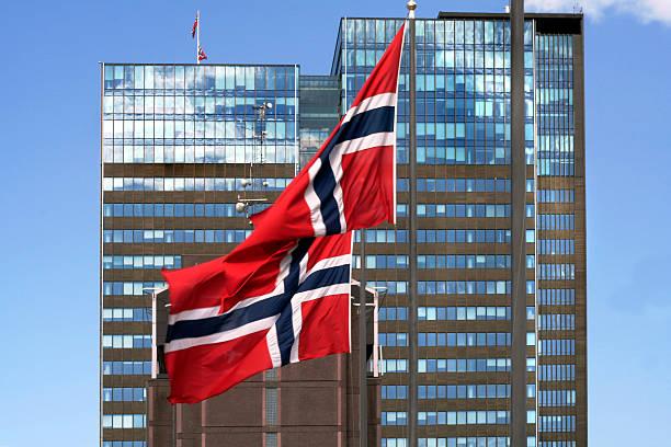 Norwegische Flagge – Foto
