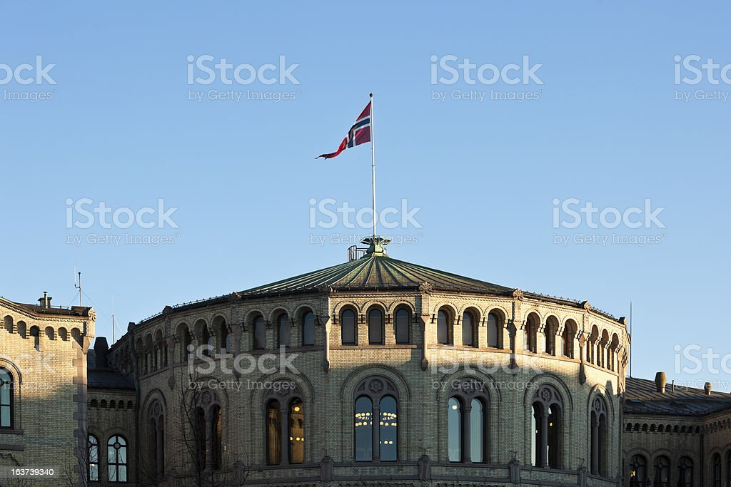 Norwegian flag. stock photo
