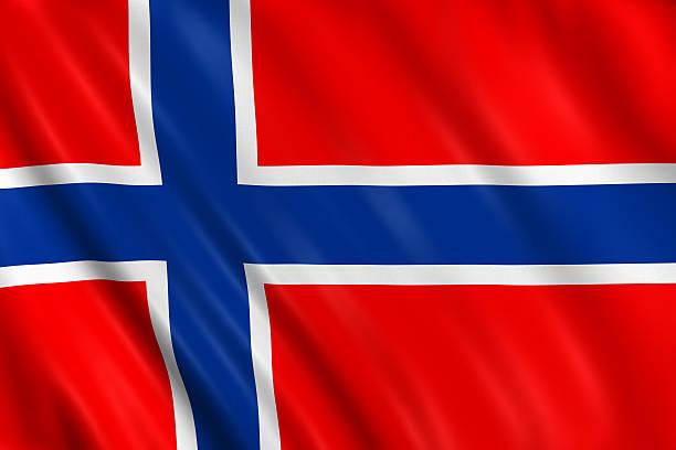 norwegische flagge - norwegen fahne stock-fotos und bilder