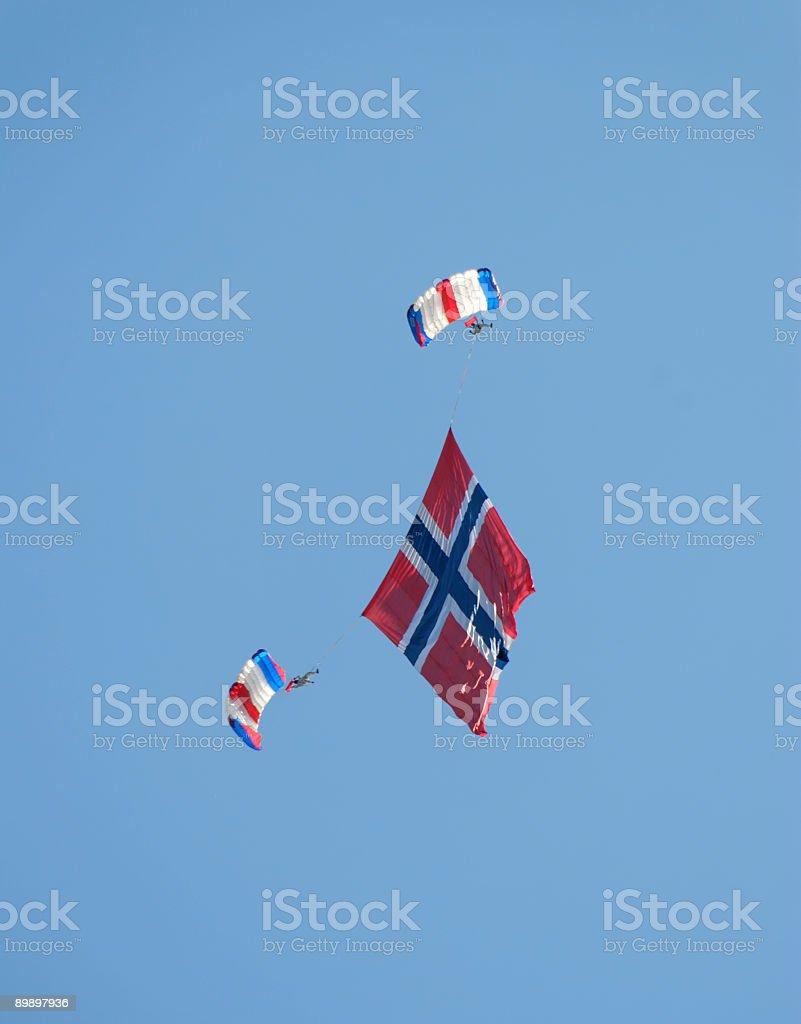 Norwegische Flagge Lizenzfreies stock-foto