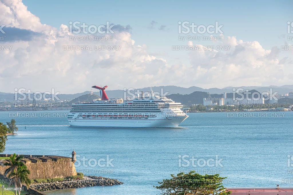 Norwegian Gem sailing near San Juan stock photo