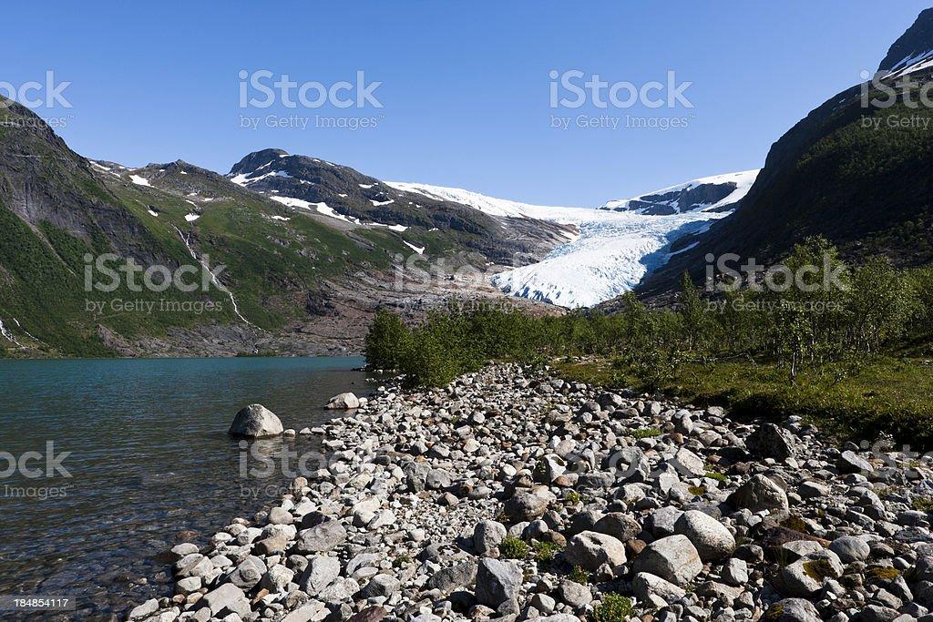 Norwegian Glacial Lake royalty-free stock photo