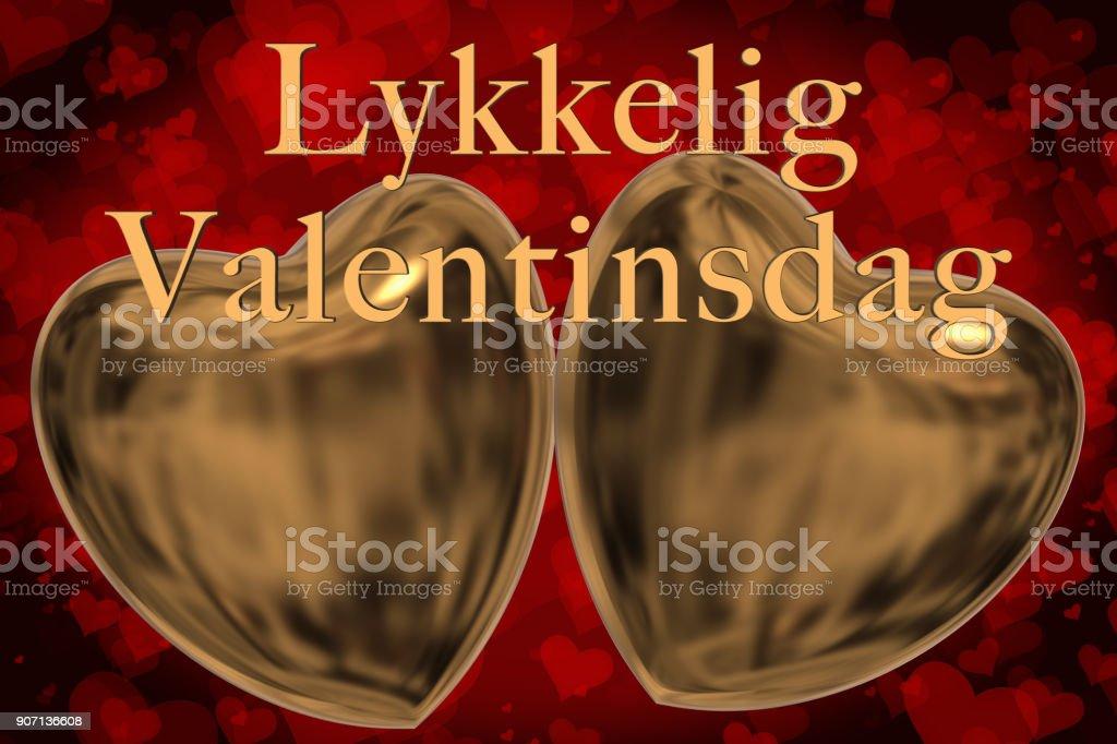 Frase De Día De San Valentín Feliz Noruego Lykkelig