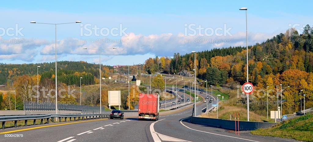 Norwegian highway stock photo