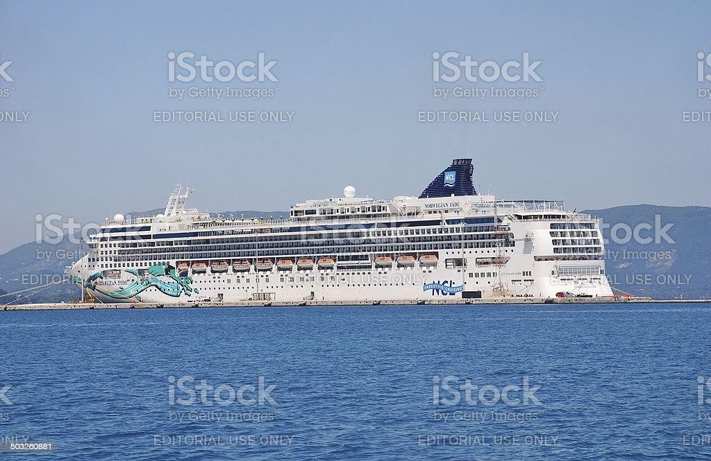Norwegian Jade, Corfu stock photo