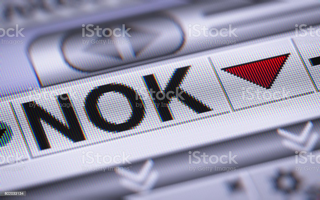 Norwegian Krone. Down. stock photo