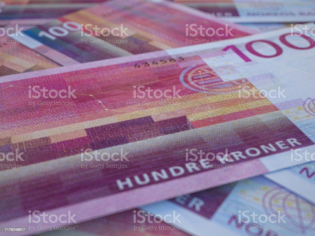 Norwegian Krone Money Of Norway Business Background Oslo ...