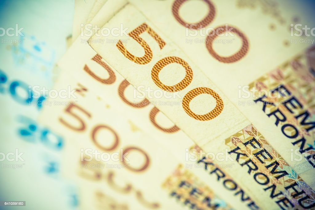 Norwegian Krones Bills stock photo