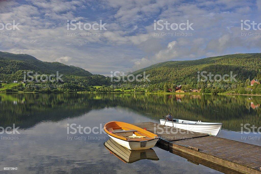 Norwegian Lakescape royalty-free stock photo