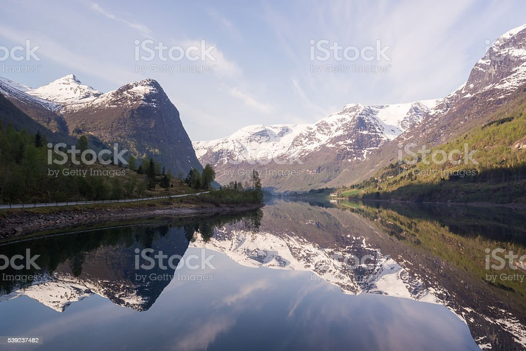 Norwegian landscape in the Fjords. royalty-free stock photo