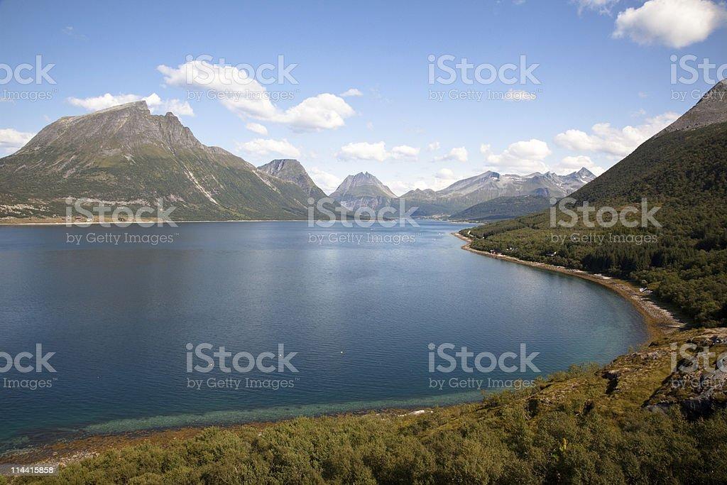 Norwegian landscape royalty-free stock photo