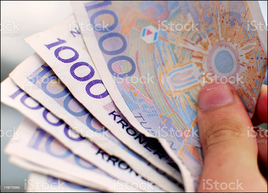 Norwegian Money stock photo
