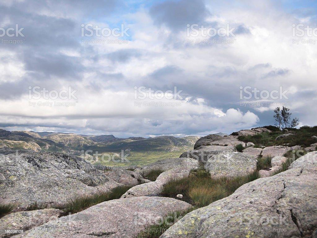 Norwegian Mountains stock photo