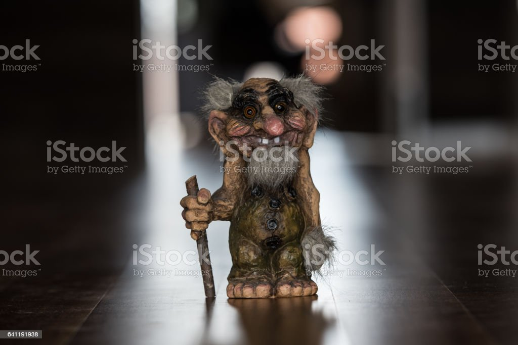 Norwegian Old Troll. stock photo