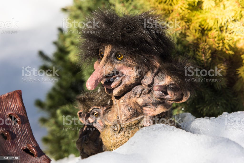 Norwegian Old Trolls. stock photo