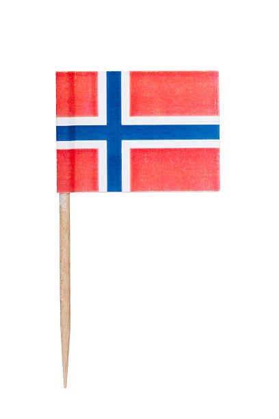 Norwegian paper flag foto