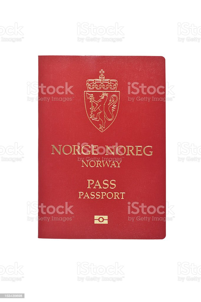 Norwegian Passport stock photo