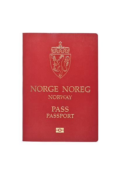 Norwegian Passport stock photo
