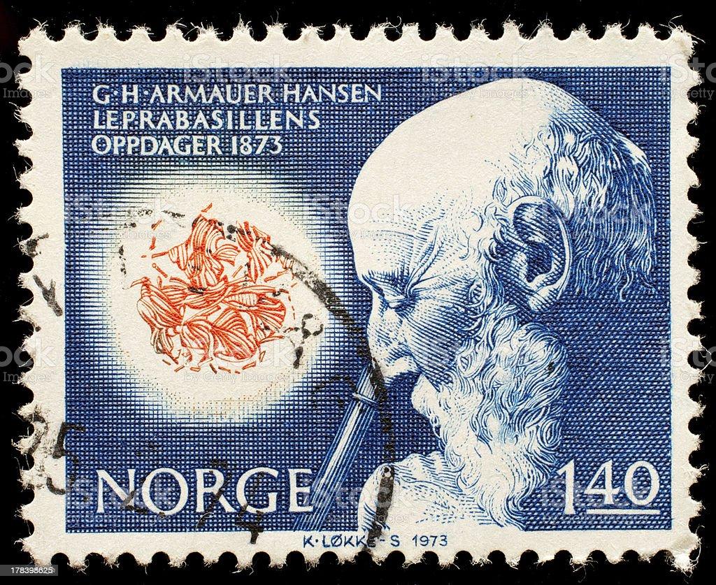 Norwegian postage stamp stock photo