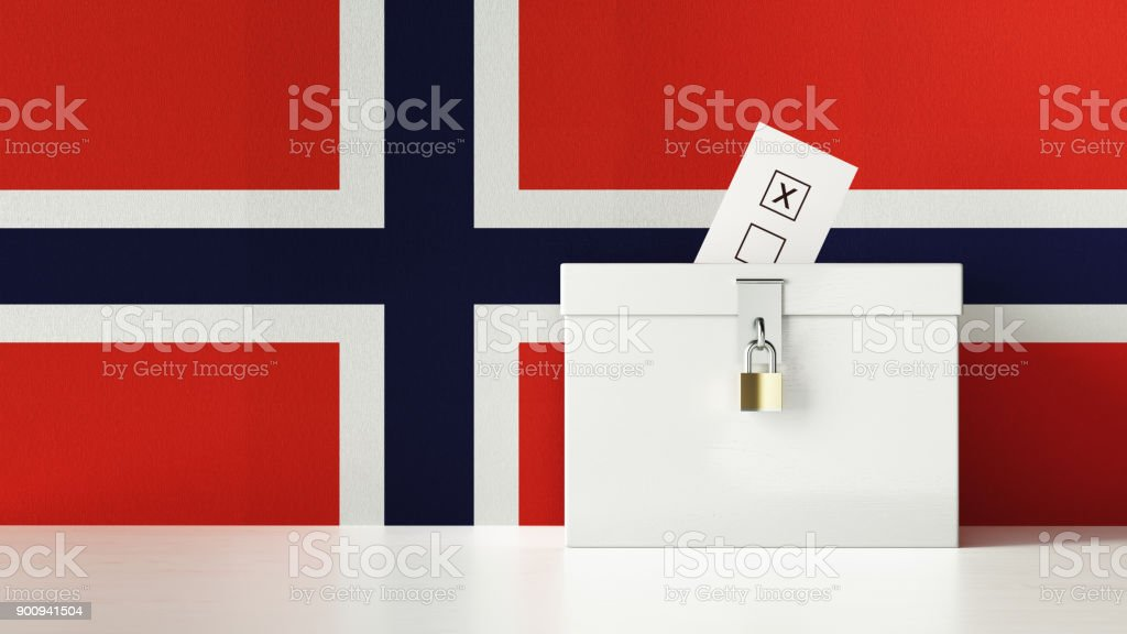 Norwegian Presidential and Legislative Elections Concept stock photo