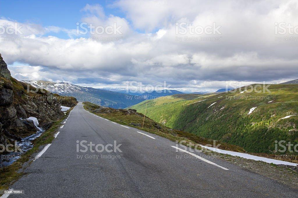 Norwegian road stock photo