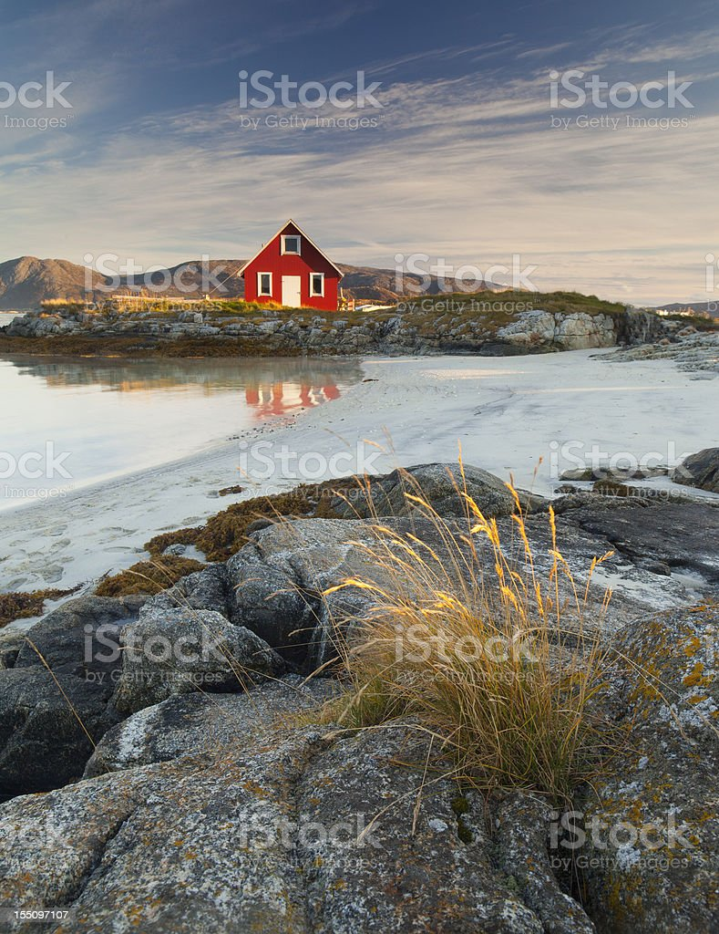 Norwegian Rorbu stock photo