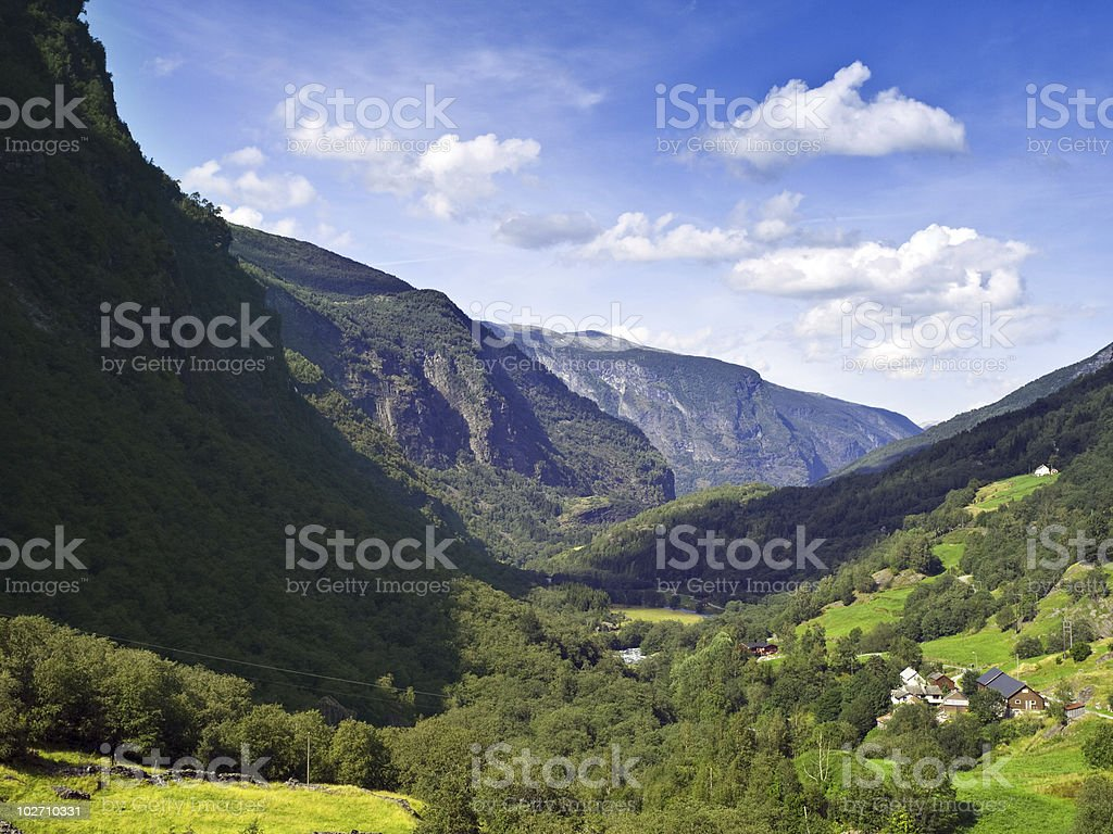 Norwegian Scenics in Sogn of Fjordane county royalty-free stock photo