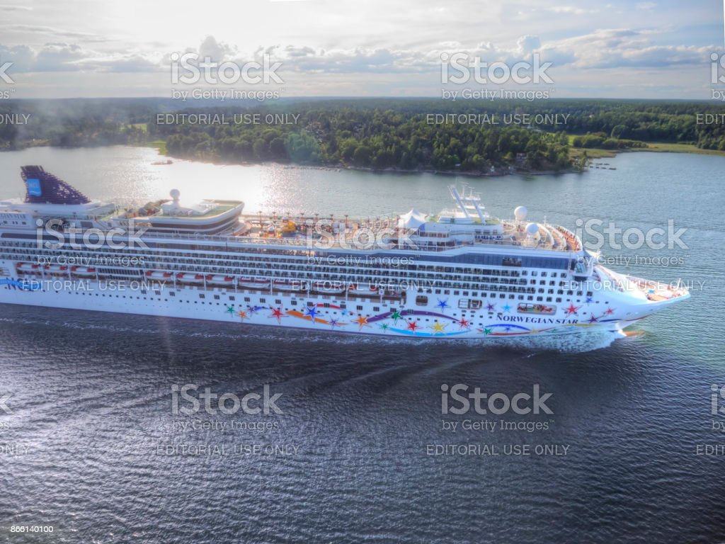 Norwegian Star Cruise Ship stock photo