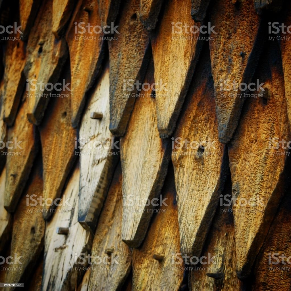 Norwegian stave tiles stock photo