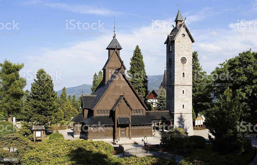 Норвежский Храм Wang Стоковые фото Стоковая фотография
