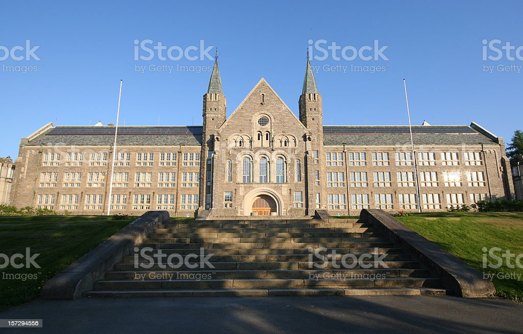 Norwegian university of science and technology - NTNU stock photo