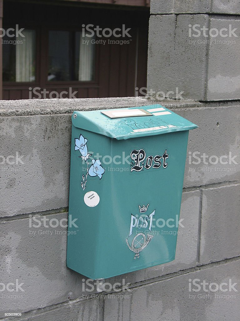 Norweigan Mailbox royalty-free stock photo