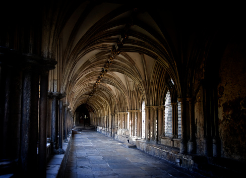 Norwich Cathedral cloister.