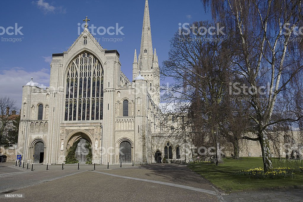 Norwich Cathedral royalty-free stock photo