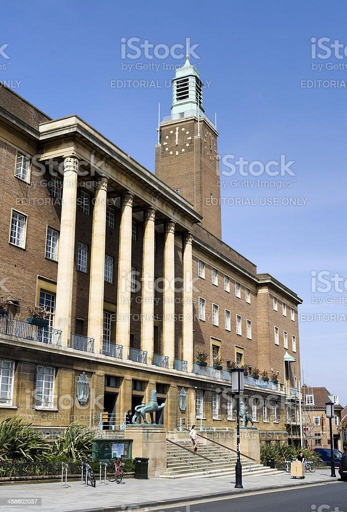 Norwich City Hall stock photo