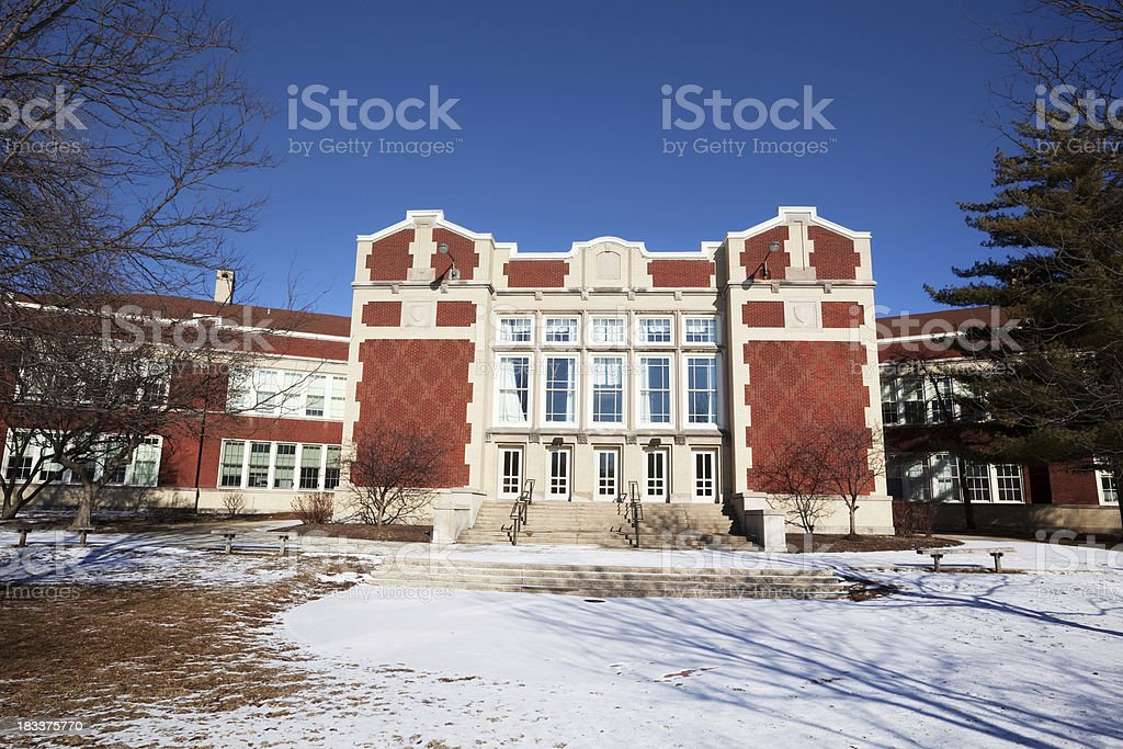 Norwood Park Elementary School. Chicago royalty-free stock photo