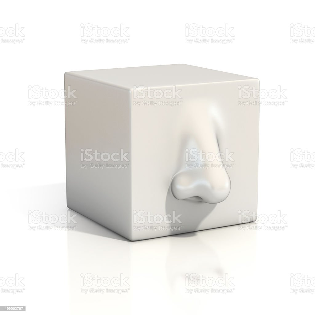 nose abstract illustration stock photo
