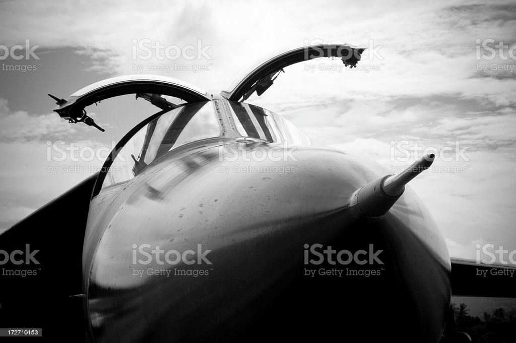 F111 Nose and Cockpit royalty-free stock photo