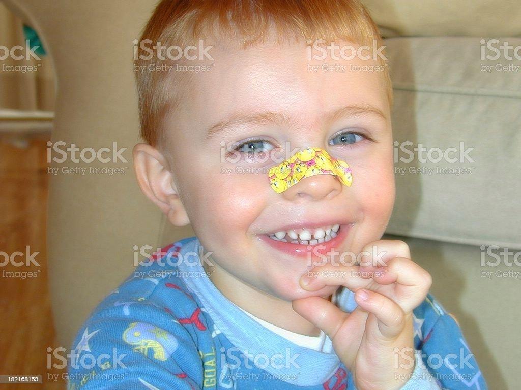 Nose bandage royalty-free stock photo