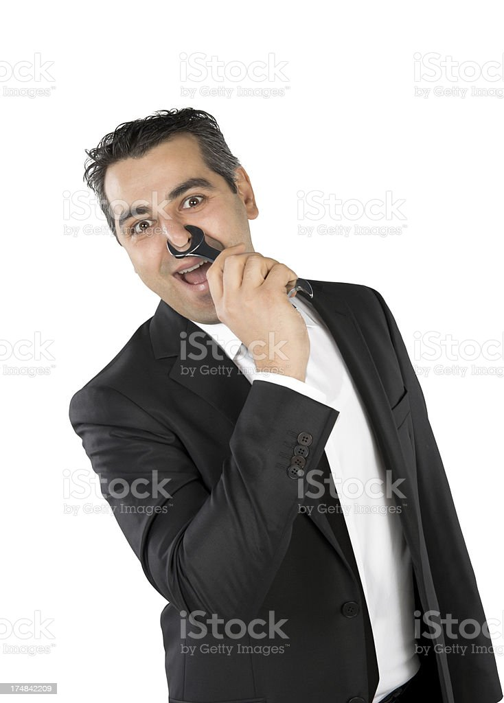 Nose bothers business royalty-free stock photo