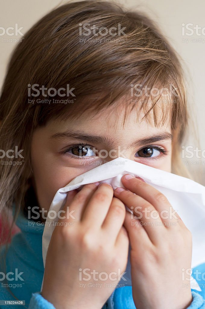 Nose cleaning royalty-free stock photo