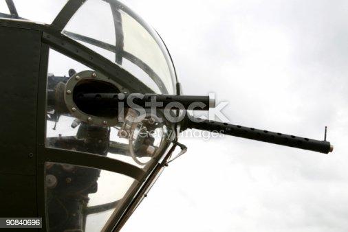 Guns on the nose of a World War II B-17.