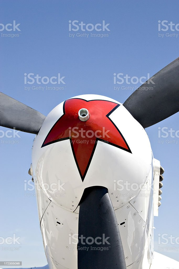 Nose of Russian fighter plane royalty-free stock photo