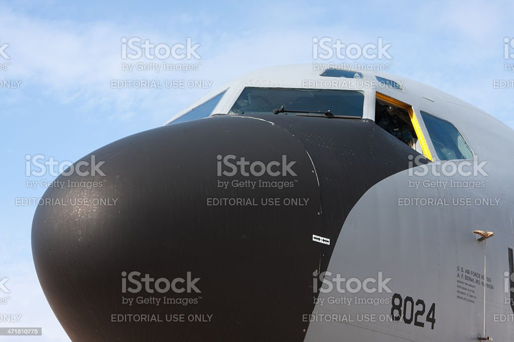 Nose Of The Plane stock photo